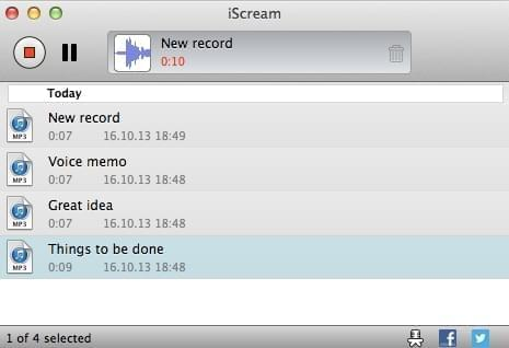 enregistrer l'audio avec iscream