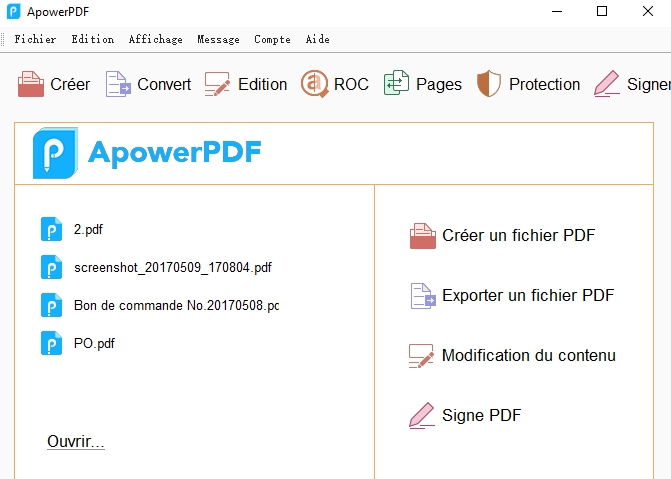 visualiser PDF avec ApowerPDF