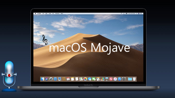 enregistrement audio sur mac mojave