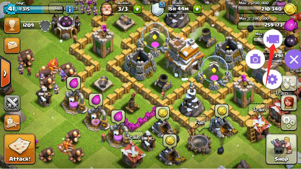 enregistrer Clash of Clans sur Android