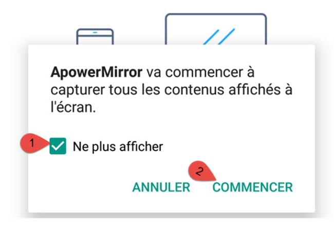 connecter pc avec android apowermirror